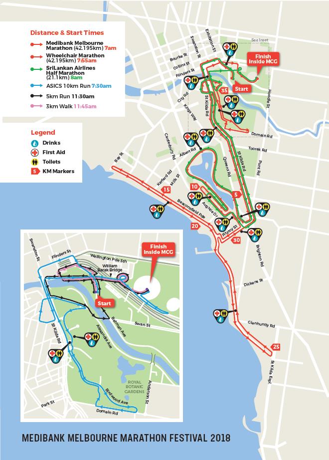 Boston Marathon Course Elevation Map.Melbourne Marathon Melbourne Marathon Festival