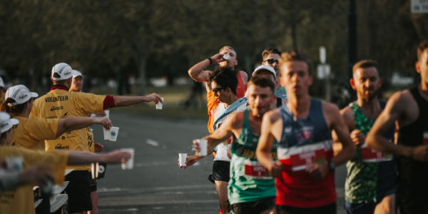AUSTRALIA'S LARGEST EVER MARATHON RECYCLES PAPER CUPS
